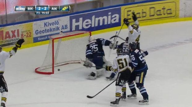 Se AIK:s galna kvittering - gör två mål med 37 sekunder kvar