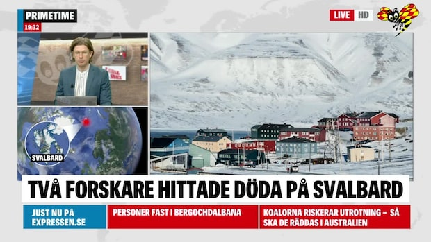 Två personer dog efter fall från berg på Svalbard