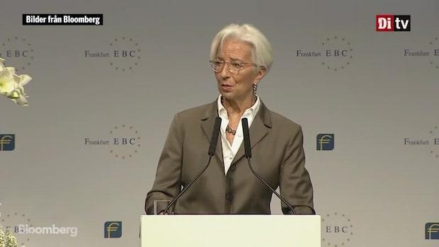 """Världens Affärer: ECB:s Lagarde - """"Europa behöver ny policymix"""