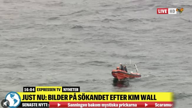 Man har skickat ut båtar för att kunna söka efter Kim Wall. Foto: Skärmbild