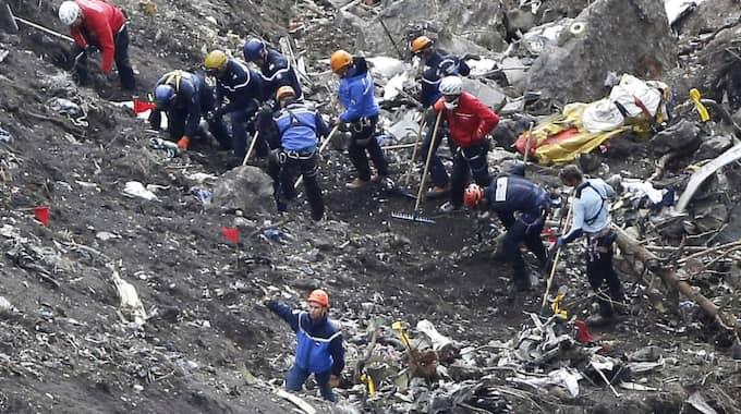 De 150 människorna avled omedelbart när Germanwings-planet kraschade i Alperna. Foto: Laurent Cipriani