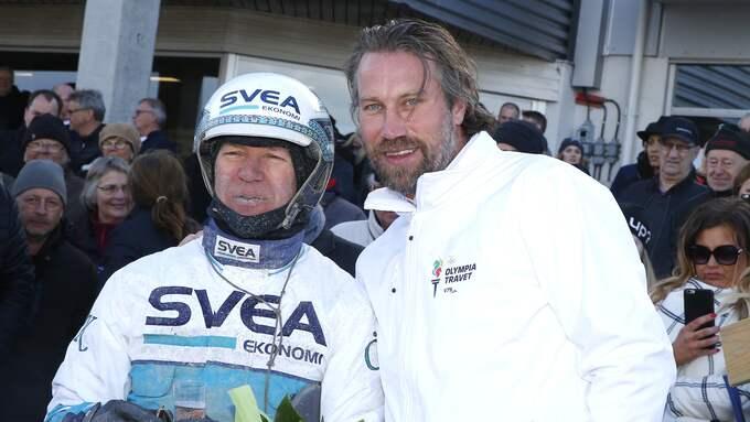 Peter Forsberg har ett stort travintresse – här med Örjan Kihlström Foto: / KANAL75