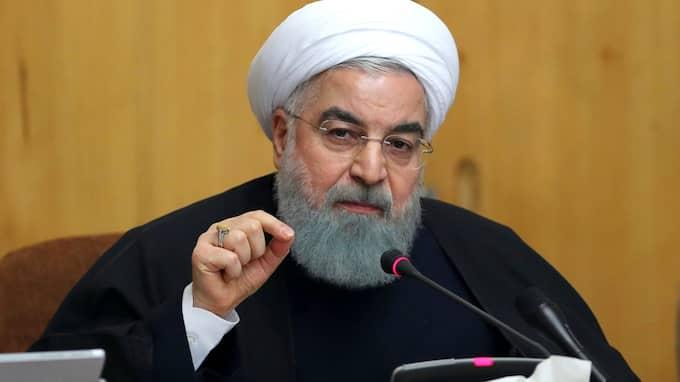 Irans president Hassan Rouhani. Foto: UNCREDITED / AP TT NYHETSBYRÅN