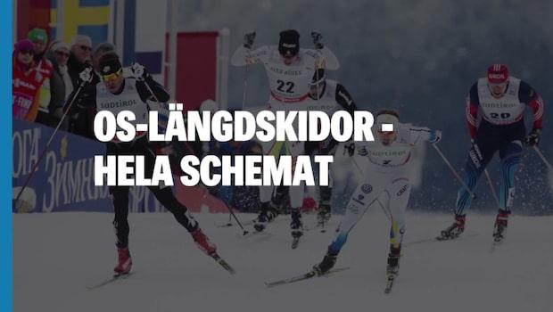 OS 2018 – Längdskidor – hela schemat – dag för dag