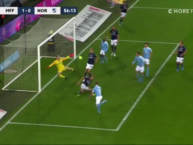Rieks nickar in 1–0 för Malmö