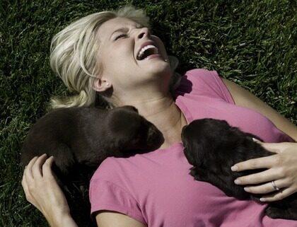 Djur får dig att må bättre. Att gosa med en hund då och då höjer halterna av oxytocin.