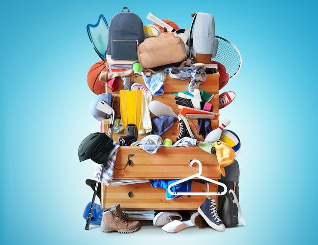 Har du problem med att rensa, slänga och förvara dina saker och kläder?