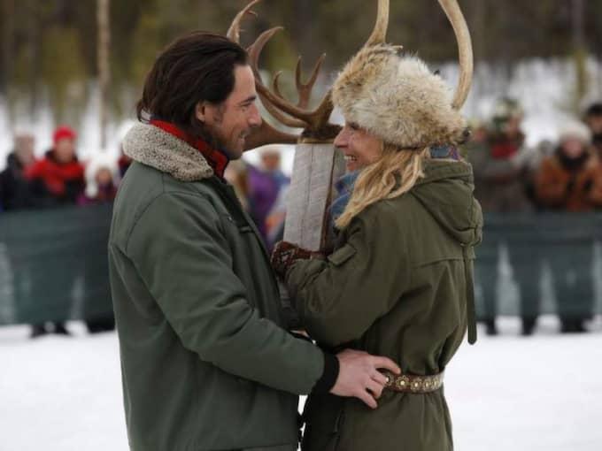 Ola Rapace och Martina Haag spelar Jocke och Nadja som möts i en liten Norrlandsby. Foto: Nordisk film