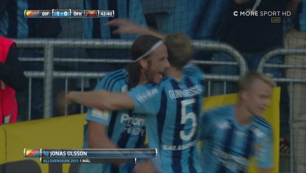 Olsson gör första målet för Djurgården