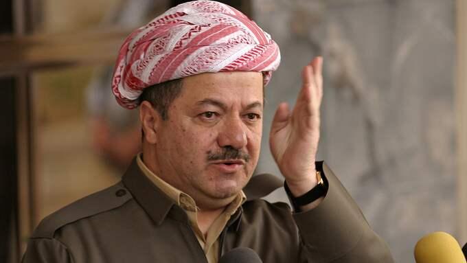 Efter att den kurdiska presidenten Massoud Barzani haft möte med Kurdistans politiska partier på onsdagen, har man enats om årets datum då en folkomröstning och självständighet och parlamentsval kommer hållas i Kurdistan. Foto: SASA KRALJ / AP