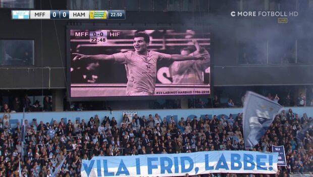 Matchen stoppas för att hedra Labinot Harbuzi