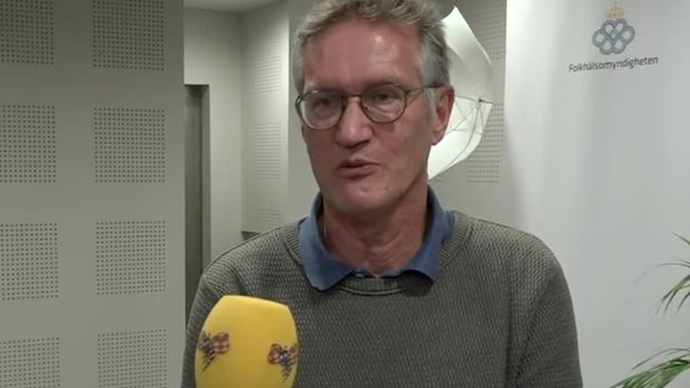 """Anders Tegnell: """"Vi ser en avtagande ökning"""""""