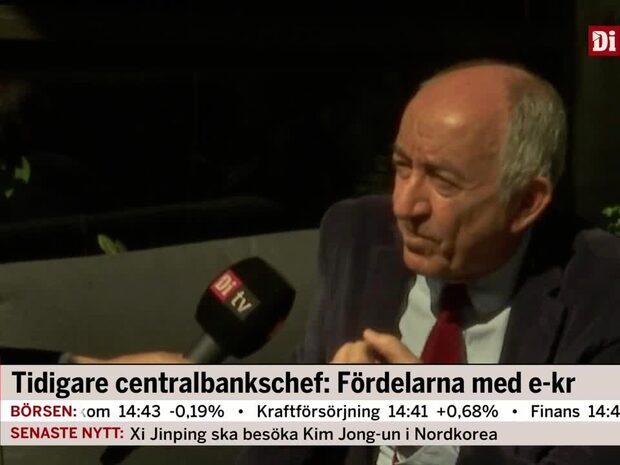 Tidigare centralbankschef: Fördelarna med e-krona