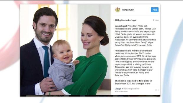 Prins Carl Philip och Prinsessan Sofia väntar barn