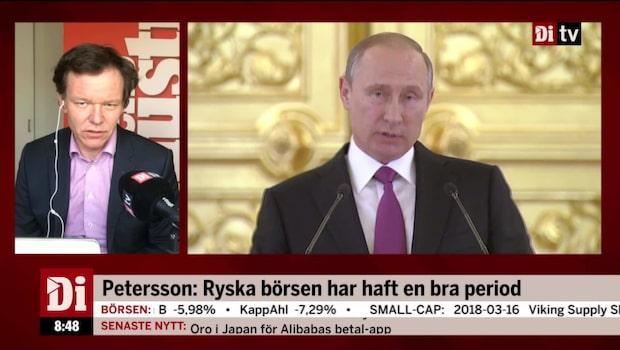 """Petersson: """"Mest råvaror som driver landet"""""""
