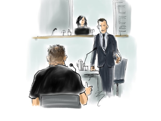Så var Madsens första dag i rätten