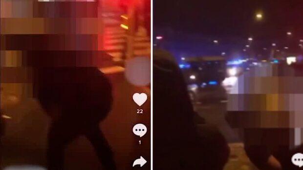 Se filmen: Här kastar 31-åringen sten mot polisen i Malmö