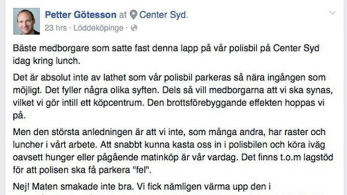 Så här svarade Petter Götesson den okände lappskrivaren.