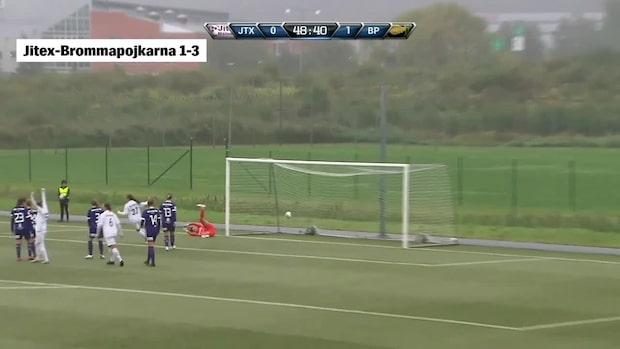 """Drar till med en stenhård yttersida – på volley: """"Vilket mål hon gör!"""""""