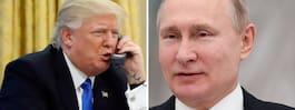 Trump ringde upp Putin – trots varningslapp i versaler
