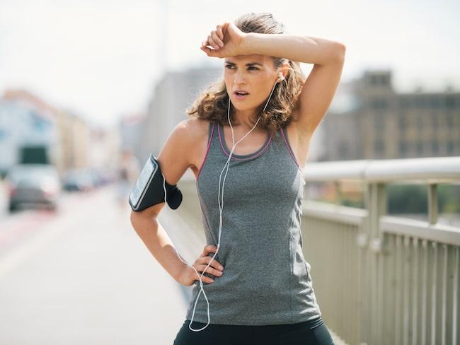 varför svettas jag så mycket vid träning