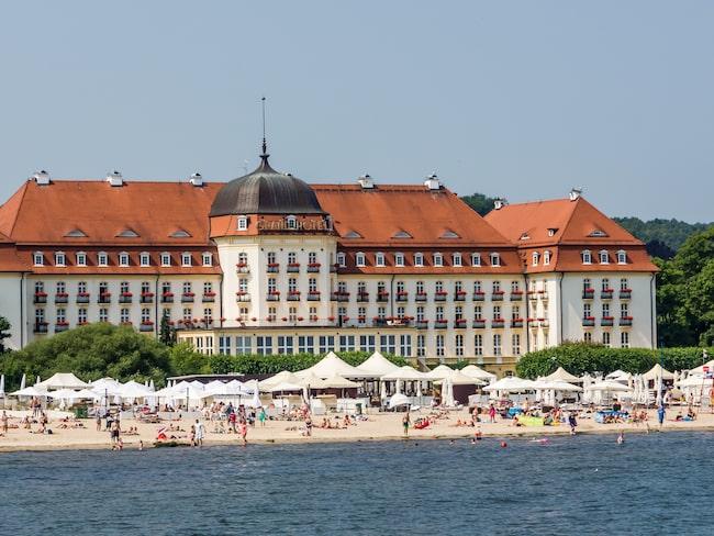 Sopots mest imponerande hotell Sofitel Grand har haft kända personer som Greta Garbo som gäster.