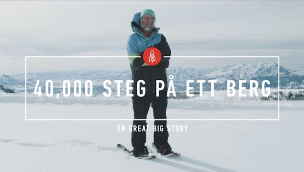 Simon började gå i snön – sen kunde han inte sluta