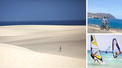 FUERTEVENTURA. Njut av sol och finsmulig, mjuk Sahara-sand i Fuerteventura.