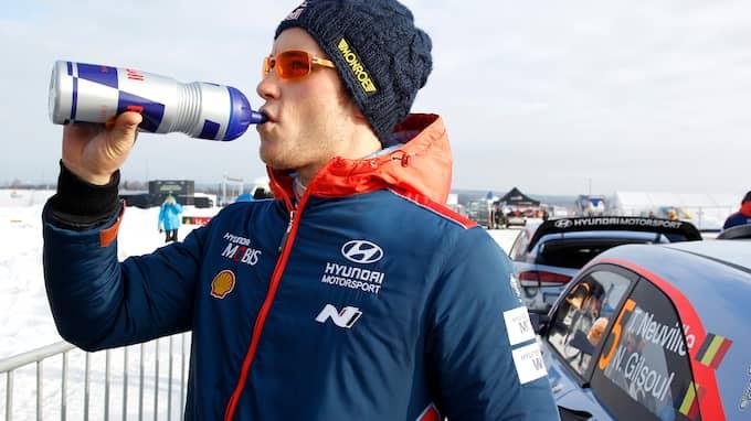 Thierry Neuville går mot segern. Foto: MICKE FRANSSON / TT NYHETSBYRÅN
