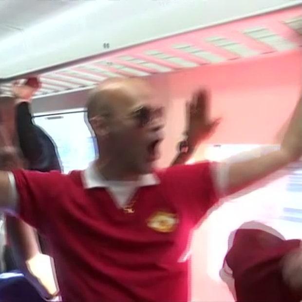 Här tar United-fansen över pendeln