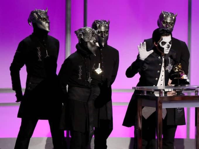 Ghost prisades på Grammy Awards i natt. Foto: Matt Sayles