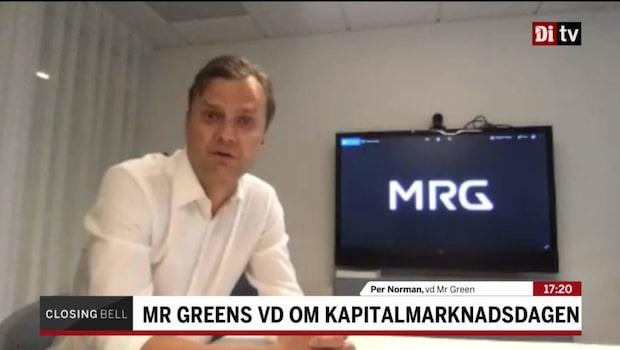 """MRG:s vd: """"Vi har haft ett forsatt väldigt bra momentum"""""""