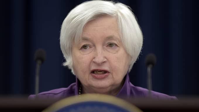 Janet Yellen är ordförande för USA:s centralbank, men hon kan nu komma att petas. Foto: SUSAN WALSH / AP TT NYHETSBYRÅN