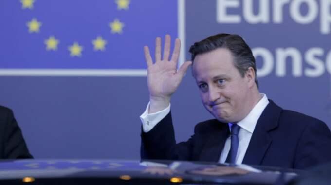David Cameron. Foto: Olivier Hoslet / Epa / Tt
