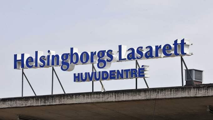 En 30-årig kvinna ligger nedsövd på Helsingborgs Lasarett. Foto: LASSE SVENSSON