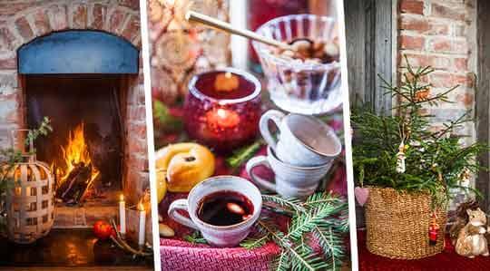 Få en lantlig jul och duka rustikt med naturmaterial Leva& bo