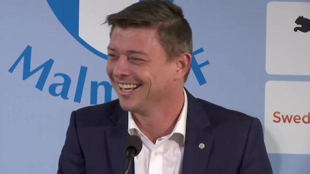 Här presenteras Jon Dahl Tomasson som Malmö FF:s nye tränare