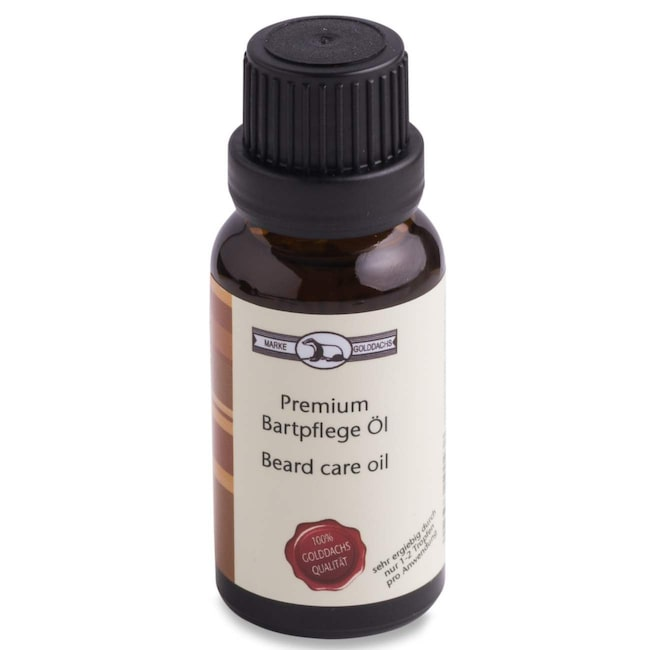 "<span>Skäggolja från Pfeilring, 20 ml, 199 kronor på <a href=""http://www.militusmedical.se/pfeilring-golddachs-premium-beardcareoil"">Militusmedical.se</a>.</span>"