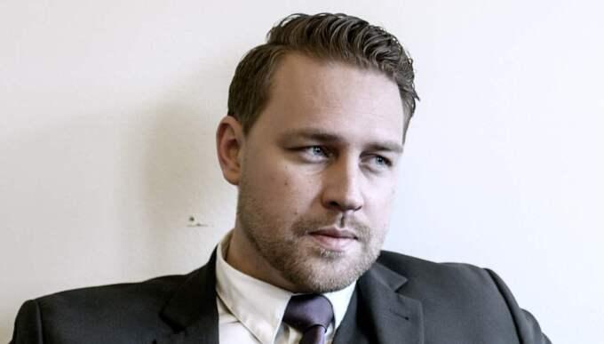 Enligt Kasselstrand är den vikarierande partiledaren Mattias Karlsson den som ligger bakom uteslutningsärendena. Karlsson själv menar att det är medlemsutskottet, inte partiledningen som initierat ärendena. Foto: Jonte Wentzel