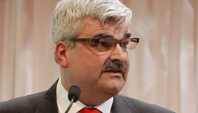 Håka Juholt under sitt tal på lördagen. Foto: Martina Huber