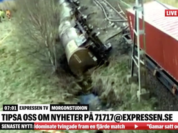 Stopp i trafiken efter tågolycka