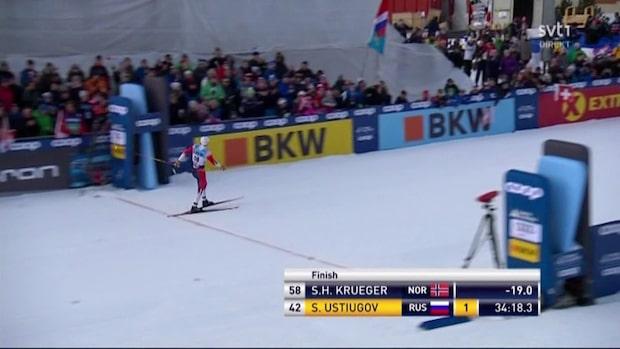 Höjdpunkter: Krüger tog sin andra världscupseger