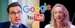 """Ulf Kristersson om Google: """"En obehaglig påminnelse"""""""
