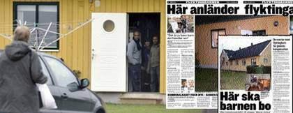 Köket är utdömt på flyktingboendet i Hököpinge. Ett par gånger om dagen kommer matleveranser från en cateringfirma till vandrarhemet. Foto: CHRISTER WAHLGREN