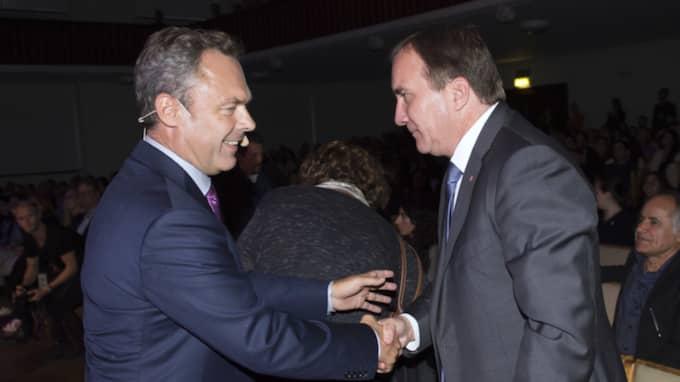 Liberalernas partiledare Jan Björklund och statsminister Stefan Löfven ska ha haft ett lunchmöte i november 2015. Foto: Sven Lindwall