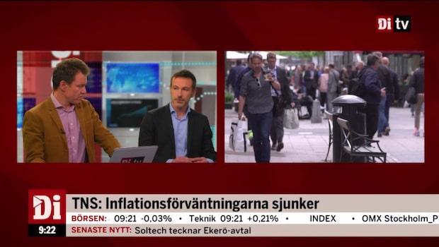 TNS: Inflationsförväntningarna sjunker