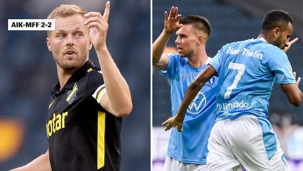 Hetsigt toppmöte mellan AIK och MFF – Seb Larsson vägrade kommentera