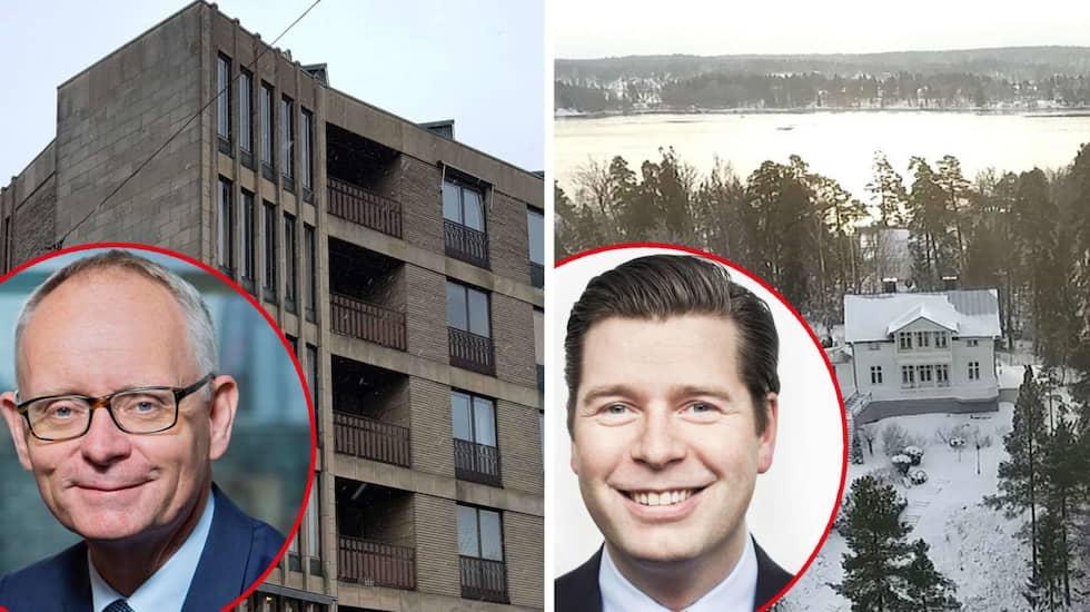 Anders Bouvin, VD på Handelsbanken och Johan Torgeby, VD på SEB, med sina bostäder.
