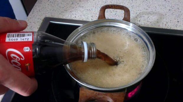 Skrämmande resultatet av kokande läsk