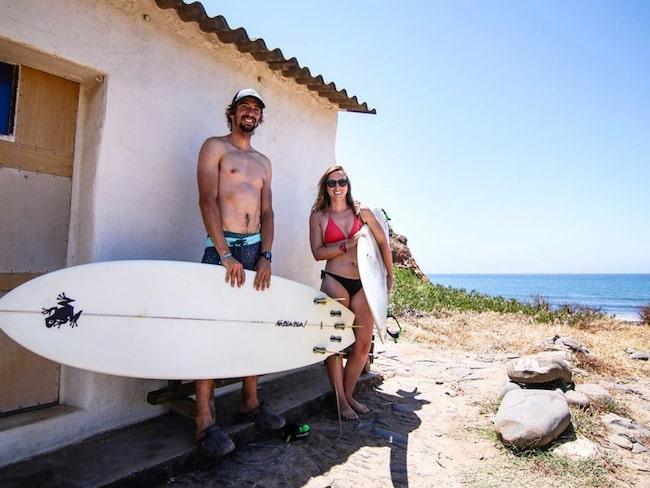 Daniela Carneiro och Eduardo Ribeiro har startat Truck Surf Hotel.
